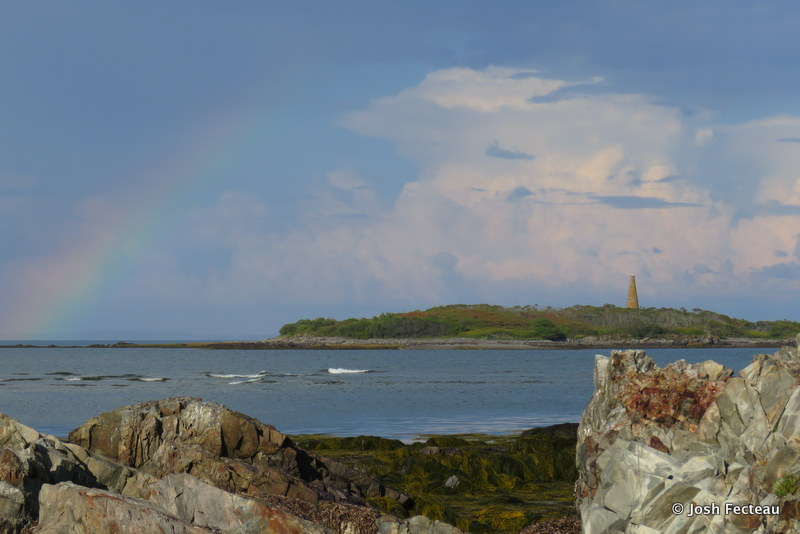Photo of Rainbow over Stage Island